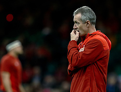 Attack Coach Rob Howley looks nervous during the pre match warm up<br /> <br /> Photographer Simon King/Replay Images<br /> <br /> Under Armour Series - Wales v Tonga - Saturday 17th November 2018 - Principality Stadium - Cardiff<br /> <br /> World Copyright © Replay Images . All rights reserved. info@replayimages.co.uk - http://replayimages.co.uk