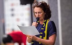 21-04-2016 NED: Springendal Set Up 65 - Vc Sneek, Ootmarsum<br /> Set Up verliest met 3-2 en staat met 2-0 achter in de finale serie best of five, Sneek kan aanstaande zondag kampioen van Nederland worden / setup speaker