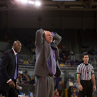 Jan 2, 2013; Greenville, NC, USA; Campbell Camels vs ECU Pirates at Minges Coliseum. East Carolina Pirates head coach Jeff Lebo  Mandatory Credit: Bennett Scarborough\Scarborough Photography