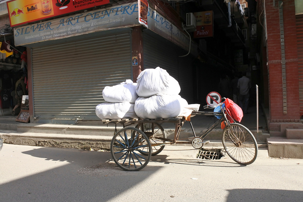 Delivery Bike laden with goods
