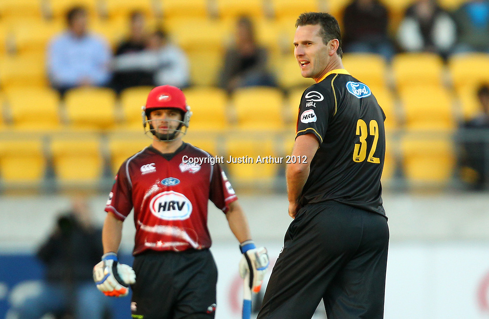 Firebirds' Shaun Tait during the 2012/2013 HRV Cup Twenty20 session. Wellington Firebirds v Canterbury Wizards at Westpac Stadium, Wellington, New Zealand on Friday 9 November 2012. Photo: Justin Arthur / photosport.co.nz