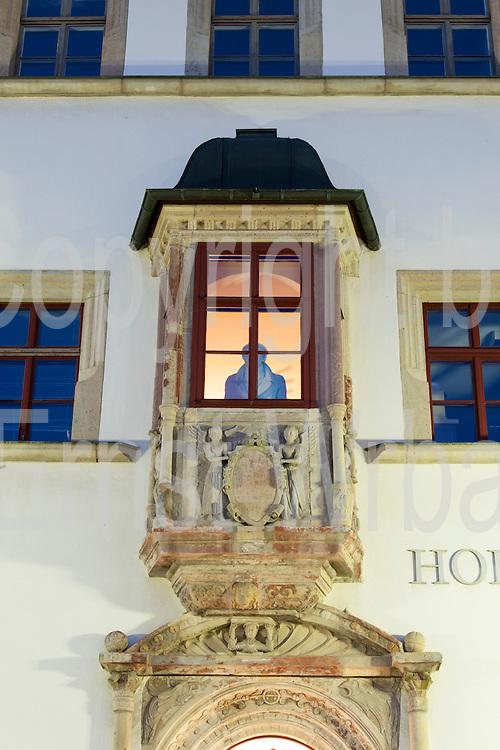Erker Hofapotheke, Dämmerung, Markt, Weimar, Thüringen, Deutschland   bowfront at dusk, Market Square, Weimar, Thuringia, Germany