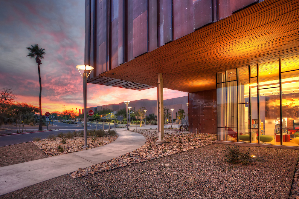 South Mountain Community College Library at sunset