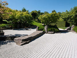 The Japanese Garden at the Garten der Welt in Marzahn district of Berlin Germany