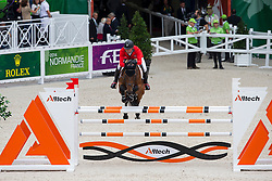 Paul Estermann, (SUI), Castlefield Eclipse - Team & Individual Competition Jumping Speed - Alltech FEI World Equestrian Games™ 2014 - Normandy, France.<br /> © Hippo Foto Team - Leanjo De Koster<br /> 02-09-14