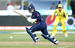 Tammy Beaumont of England Women flicks a shot off her legs - Mandatory by-line: Robbie Stephenson/JMP - 09/07/2017 - CRICKET - Bristol County Ground - Bristol, United Kingdom - England v Australia - ICC Women's World Cup match 19