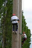 British Pole Climbing Championship at the Newark & Nottinghamshire County Show.