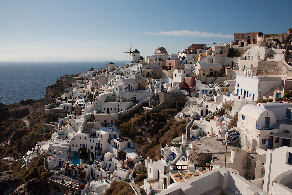 The village of Oia in Santorini. Greece