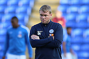 Peterborough United manager Grant McCann prior the EFL Cup match between Peterborough United and AFC Wimbledon at ABAX Stadium, Peterborough, England on 9 August 2016. Photo by Stuart Butcher.