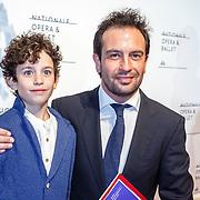 NLD//Amsterdam20160415 - Première 'Roméo et Juliette', Jeroen Spitzenberger en zoontje