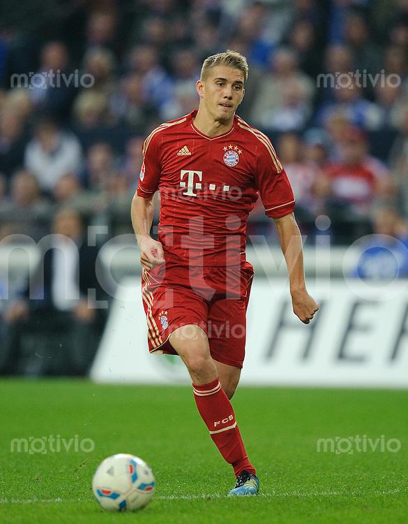 Fussball Bundesliga Saison 2011/2012 6. Spieltag FC Schalke 04 - FC Bayern Muenchen Nils PETERSEN (FCB).