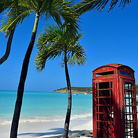 Red British Phone Booth at Dickenson Bay in St. John&rsquo;s, Antigua<br />