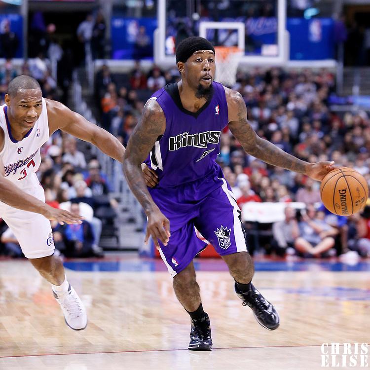 25 October 2013: Sacramento Kings small forward John Salmons (5) drives past Los Angeles Clippers shooting guard Willie Green (34) during the Sacramento Kings 110-100 victory over the Los Angeles Clippers at the Staples Center, Los Angeles, California, USA.