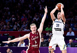Vlatko Cancar of Slovenia during basketball match between National Teams of Slovenia and Latvia at Day 13 in Round of 16 of the FIBA EuroBasket 2017 at Sinan Erdem Dome in Istanbul, Turkey on September 12, 2017. Photo by Vid Ponikvar / Sportida