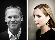 Head shots of a man and woman.<br />
