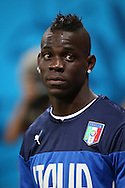 Mario Balotelli of Italy looks on during the Italy open training session at Arena da Amazonia, Manaus, Brazil<br /> Picture by Andrew Tobin/Focus Images Ltd +44 7710 761829<br /> 13/06/2014
