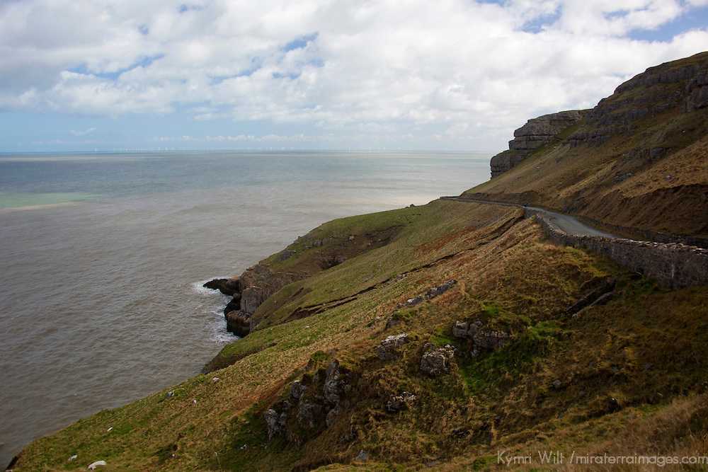 Europe, United Kingdom, Wales. The Great Orme Heritage Coast road, Wales.