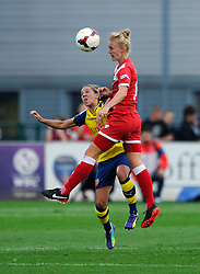 Bristol Academy's Sophie Ingle wins the header - Photo mandatory by-line: Dougie Allward/JMP - Mobile: 07966 386802 - 20/09/2014 - SPORT - FOOTBALL - Bristol - SGS Wise Campus - BAWFC v Arsenal Ladies - FA Womens Super League