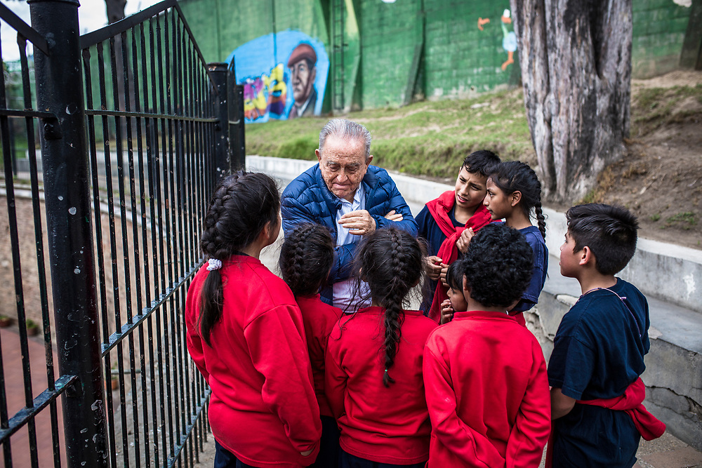 Child Rights Hero Gabriel Meija Montoya is nominated for the World's Children's Prize for his his efforts over the course of more than 30 years to support Colombia's street children, child soldiers and children in prison. Father Gabriel has suffered repeated attempts on his life because of his work.