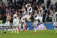 25.02.2017 - Torino - Serie A 2016/17 - 26a giornata  -  Juventus-Empoli nella  foto: L'esultanza dei giocatori della Juventus a fine partita