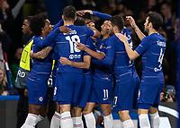 Football - 2018 / 2019 Europa League - Group L: Chelsea vs. FC BATE Borisov<br /> <br /> Chelsea players rush to congratulate goal scorer Ruben Loftus Cheek (Chelsea FC) at Stamford Bridge.<br /> <br /> COLORSPORT/DANIEL BEARHAM