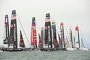The start of the second fleet race of the  America's Cup World Series, San Francisco. 23/8/2012