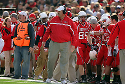 27 October 2007:  Denver Johnson looks on with concern. The Western Illinois Leathernecks beat up on the Illinois State Redbirds  27-14 at Hancock Stadium on the campus of Illinois State University in Normal Illinois.
