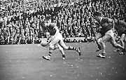 All Ireland Senior Football Championship Final, Kerry v Down, 22.09.1968, 09.22.1968, 22nd September 1968, Down 2-12 Kerry 1-13, Referee M Loftus (Mayo)..Kerry forward runs with ball toward Down goalmouth,
