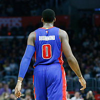 07 November 2016: Detroit Pistons center Andre Drummond (0) is seen during the LA Clippers 114-82 victory over the Detroit Pistons, at the Staples Center, Los Angeles, California, USA.