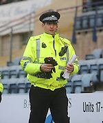 Policeman Robbie Raeside won the first division in 1998 with Dundee - he was on duty as Dundee beat Hamilton Academical - Dundee v Hamilton, SPFL Championship at <br /> Dens Park<br /> <br />  - &copy; David Young - www.davidyoungphoto.co.uk - email: davidyoungphoto@gmail.com