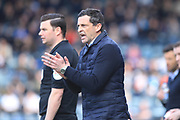 Jack Ross during the EFL Sky Bet League 1 match between Rochdale and Sunderland at Spotland, Rochdale, England on 6 April 2019.