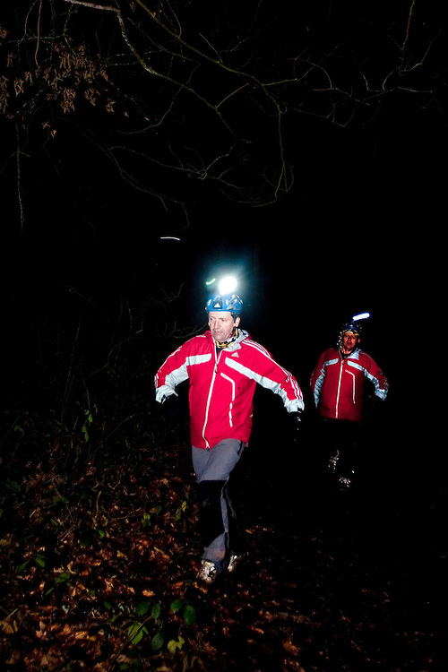Richard Maddon during the night run while Training with AdidasTERREX on the Wenger Patagonia Expedition Race media day. 11/01/2011.Copyrighted work - Permission must be sought before use of this image..Alex Ekins +44 (0)7901 882994.