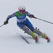 Winter Olympics, Vancouver, 2010. Tiiu Nurmberg, Estonia, in action in the Alpine Skiing Ladies Slalom at Whistler Creekside, Whistler, during the Vancouver Winter Olympics. 24th February 2010. Photo Tim Clayton