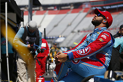 April 13, 2018 - Bristol, Tennessee, United States of America - April 13, 2018 - Bristol, Tennessee, USA: Darrell Wallace, Jr (43) gets ready to practice for the Food City 500 at Bristol Motor Speedway in Bristol, Tennessee. (Credit Image: © Stephen A. Arce/ASP via ZUMA Wire)
