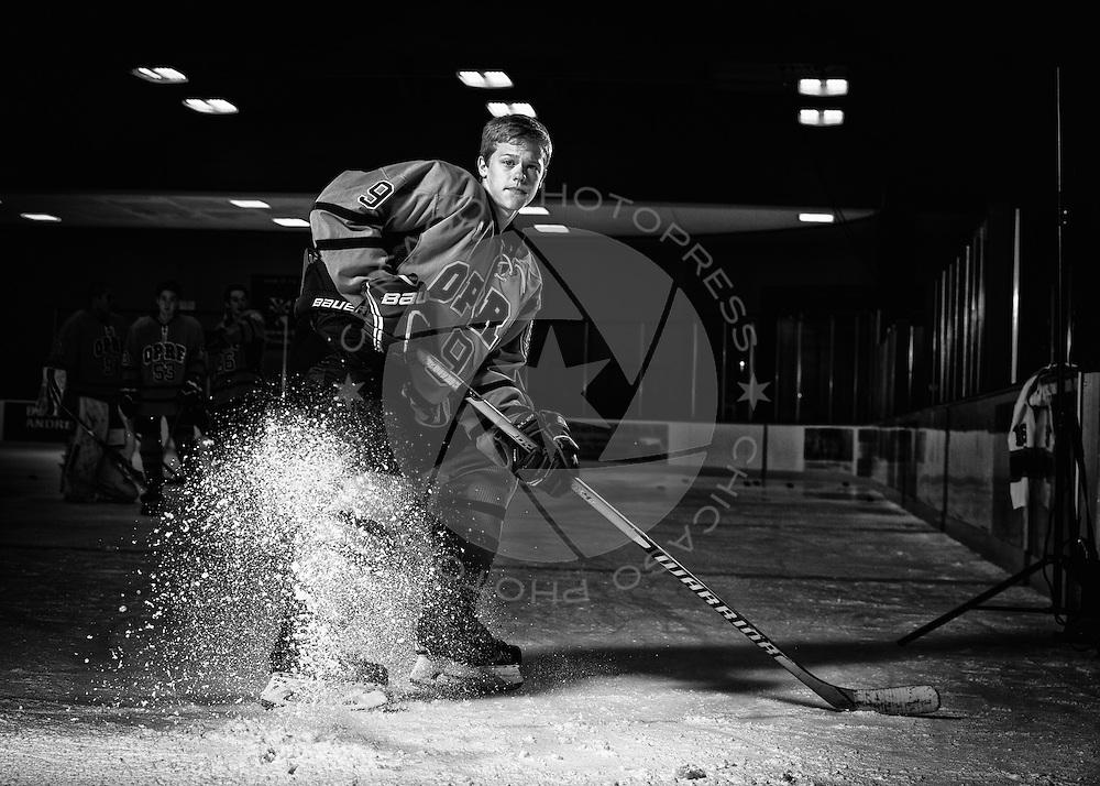 2014 OPRF Huskies Varsity Hockey photo day.