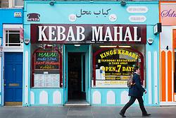 Middle Eastern kebab shop on Nicholson Square in central Edinburgh, Scotland, United Kingdom