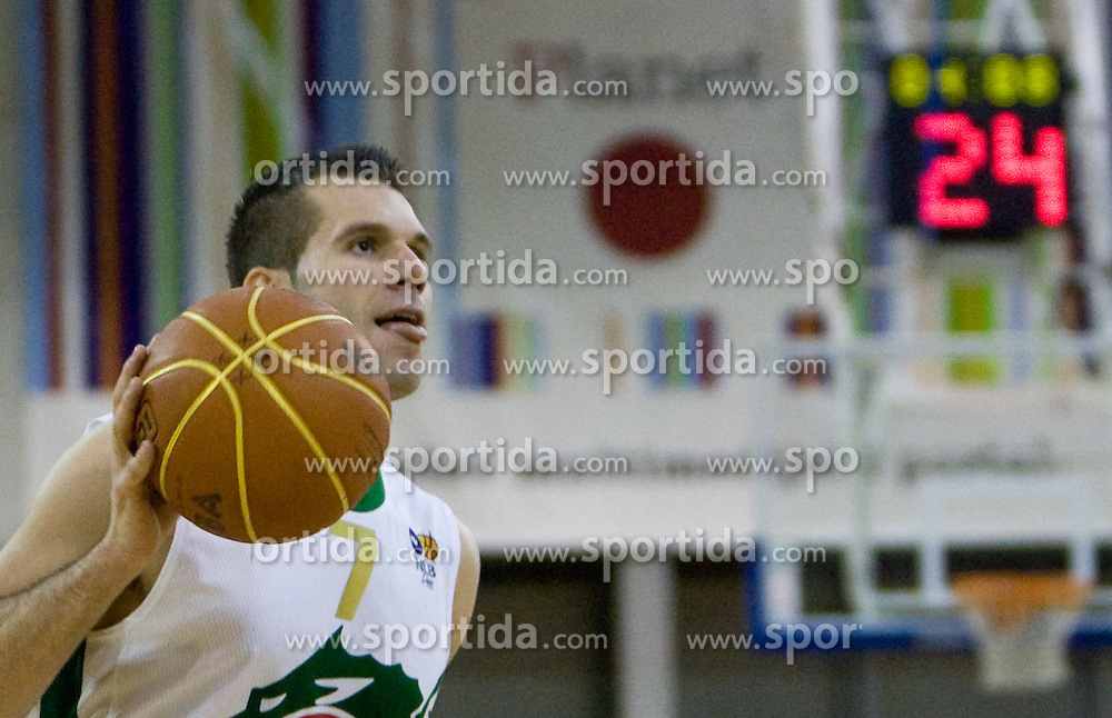 Sani Becirovic (7) of Olimpija at basketball match of 4th Round of NLB League between KK Union Olimpija and KK Crvena zvezda,  on October 24, 2009, Arena Tivoli, Ljubljana, Slovenia.  Union Olimpija won 94:76.  (Photo by Vid Ponikvar / Sportida)