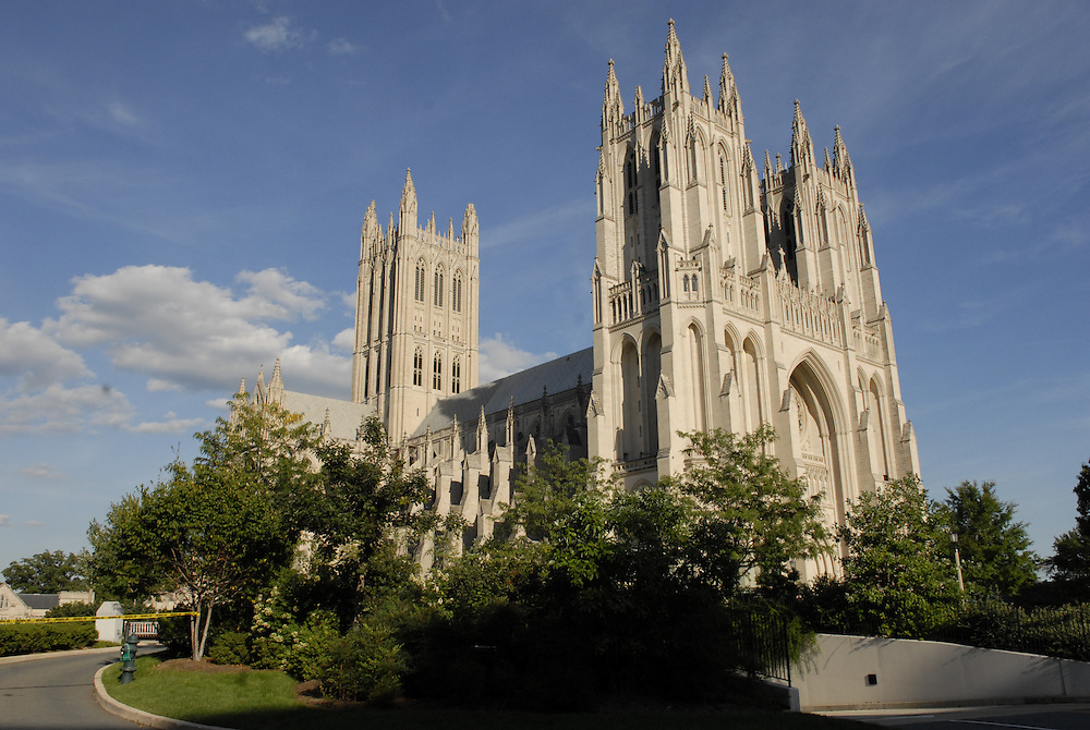 The National Cathedral on Tuesday Aug. 23, 2011 after a 5.9 earthquake shook Washington D.C. at about 1:53 pm. Damage to the Cathedral was visible on the central tower.