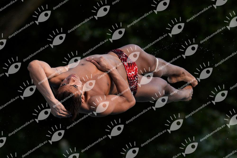 Kevin Chavez Mexico <br /> Bolzano 29/6/2013 Piscina Lido<br /> 19th Fina Diving Grand Prix <br /> Trampolino 3m Uomini - diving 3m Men <br /> Tuffi <br /> Foto Andrea Staccioli Insidefoto