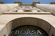 Stock Exchange building by architect Paolo Mezzanotte at Affari (businesses) square in Milan, February 19, 2009. Building is the headquarter of Borsa Italiana spa.