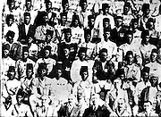 Nubians gather for a celebration with the president of the Sudanese organization.  (1920)