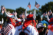 Fans of USA team during the practice round of Ryder Cup 2018, at Golf National in Saint-Quentin-en-Yvelines, France, September 26, 2018 - Photo Philippe Millereau / KMSP / ProSportsImages / DPPI