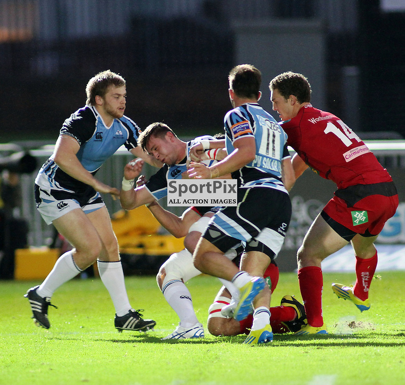 Ryan Wilson Glasgow Warriors tries to make a break against scarlets at warriors new home at scotstoun ..Kevin McGlynn(c)  | StockPix.eu