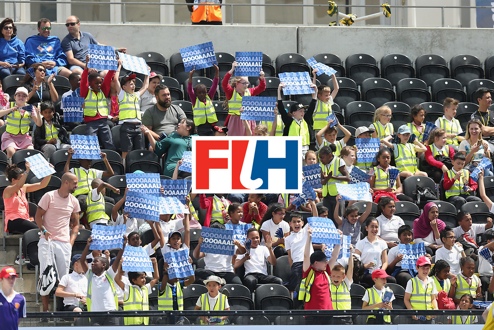 LONDON, ENGLAND - JUNE 15: Fans during the Hero Hockey World League Semi Final match between Korea and Argentina at Lee Valley Hockey and Tennis Centre on June 15, 2017 in London, England.  (Photo by Alex Morton/Getty Images)
