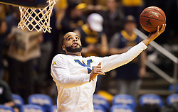 Jan 20, 2016; Morgantown, WV, USA; West Virginia Mountaineers guard Jaysean Paige (5) warms up before their game against the Texas Longhorns at the WVU Coliseum. Mandatory Credit: Ben Queen-USA TODAY Sports