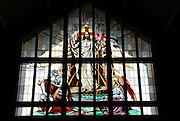 Stained glass image from St. William Church, Waukesha. (Photo by Sam Lucero)