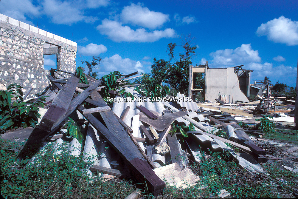 Aftermath of  a hurricane  in the Eastern tip of the Dominican Republic. Boca de Yuma