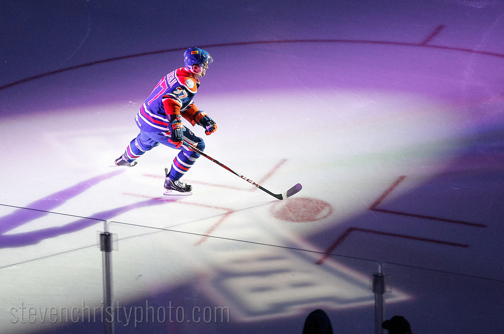 March 19, 2013: The Oklahoma City Barons play the Rochester Americans in an American Hockey League game at the Cox Convention Center in Oklahoma City.