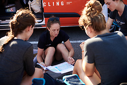 Rally UHC Cycling team meeting before Ladies Tour of Norway 2019 - Stage 4, a 154 km road race from Svinesund to Halden, Norway on August 25, 2019. Photo by Sean Robinson/velofocus.com