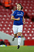 Everton women midfielder Maeva Clemaron (21) during the FA Women's Super League match between Liverpool Women and Everton Women at Anfield, Liverpool, England on 17 November 2019.